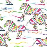 Naadloos patroon van zebras Stock Fotografie