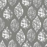 Naadloos patroon van zegelbladeren vector illustratie