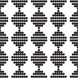 Naadloos patroon van zwart-wit cirkels Royalty-vrije Stock Fotografie