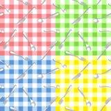 Naadloos patroon vier met bestek Royalty-vrije Stock Afbeeldingen