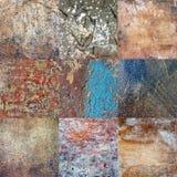 Naadloos patroon Vierkanten van multicolored, gebarsten pleister Royalty-vrije Stock Afbeelding