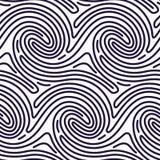 Naadloos Patroon in Vingerafdrukstijl Stock Illustratie
