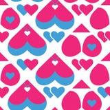 Naadloos patroon voor DA van Valentine Stock Fotografie