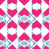 Naadloos patroon voor de Dag van Valentine Stock Afbeeldingen