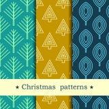 Naadloos patroon voor de winter en Kerstmisthema Stock Foto