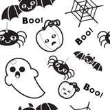 Naadloos patroon voor decoratie Halloween Stock Fotografie