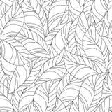 Naadloos patroon voor het kleuren van boek Stock Foto