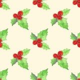 Naadloos patroon voor het ontwerp van de de wintervakantie Stock Fotografie
