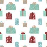 Naadloos patroon voor Kerstmis en Nieuwjaar  vector illustratie