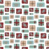 Naadloos patroon voor Kerstmis en Nieuwjaar  de bovenkant wedijvert vector illustratie