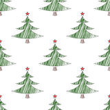 Naadloos patroon voor Kerstmis en Nieuwjaar schets Modern ontwerp Royalty-vrije Stock Fotografie