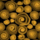 Naadloos Patroon voor Textiel of Behang Vage textuur van cirkels, abstractie op een zwarte achtergrond vector illustratie