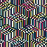 Naadloos patroon voor textiel en verpakking Abstract Geometrisch patroon royalty-vrije illustratie