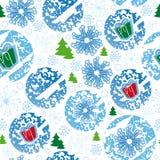 naadloos patroon, vrolijke Kerstmis, sneeuwvlok Stock Afbeelding
