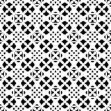 Naadloos patroon, zwart & wit geometrisch ornament Royalty-vrije Stock Foto