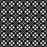 Naadloos patroon, zwart & wit geometrisch ornament Royalty-vrije Stock Afbeelding