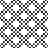 Naadloos patroon, zwart & wit vierkant geometrisch ornament Royalty-vrije Stock Afbeelding
