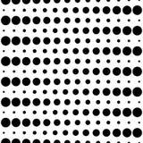 Naadloos patroon, zwarte & witte cirkels en lijnen Royalty-vrije Stock Fotografie