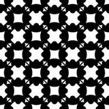 Naadloos patroon, zwarte & witte geometrische cijfers, kruisen, vierkanten, driehoeken Stock Afbeeldingen