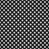 Naadloos patroon, zwarte & witte gestippelde textuur Stock Foto's