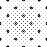 Naadloos patroon, zwarte & witte minimalistische textuur Royalty-vrije Stock Fotografie