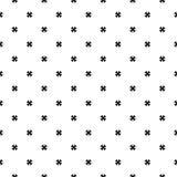 Naadloos patroon, zwarte & witte minimalistische textuur Royalty-vrije Stock Afbeelding
