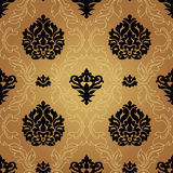 Naadloos Patroonbackground.damask Behang. Stock Fotografie