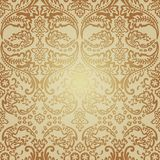 Naadloos Patroonbackground.damask Behang. Royalty-vrije Stock Foto's