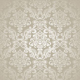 Naadloos Patroonbackground.damask Behang. Stock Afbeelding