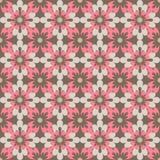 Naadloos patroondamast arabesque en de bloemenbedelaars van de elemententextuur Stock Afbeeldingen