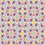 Naadloos patroonmozaïek oosterling Traditioneel antiek ornament Marokko en Arabier Meetkunde oosterse etnische tegel stock illustratie