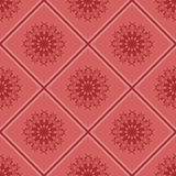 Naadloos patroonornament op vierkante achtergrond Stock Afbeelding