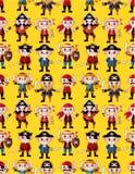 Naadloos piraatpatroon Royalty-vrije Stock Afbeelding