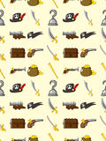 Naadloos piraatpatroon Stock Foto