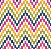Naadloos pixelated zigzagpatroon Stock Afbeeldingen