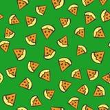 Naadloos pizzapatroon Stock Afbeeldingen