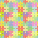 Naadloos puzzelpatroon Royalty-vrije Stock Afbeeldingen