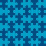 Naadloos Raadsel - Blauw   Stock Afbeelding