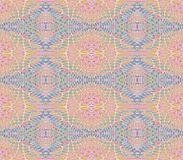 Naadloos regelmatig retro patroon roze blauw stock illustratie
