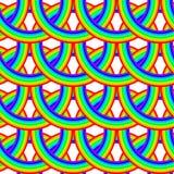 Naadloos regenboogpatroon Royalty-vrije Stock Foto's