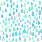 Naadloos regenpatroon Stock Foto