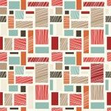 Naadloos retro abstract kleurrijk patroon Stock Fotografie