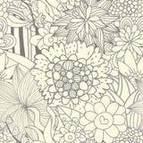 Naadloos retro bloemenpatroon Royalty-vrije Stock Foto