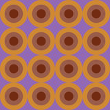 Naadloos retro cirkelpatroon Royalty-vrije Illustratie