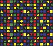Naadloos Retro Geometrisch Patroon Stock Foto