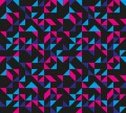 Naadloos Retro Geometrisch Patroon Stock Foto's