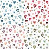 Naadloos retro het ontwerppatroon van hartenjaren '50 Royalty-vrije Stock Afbeeldingen