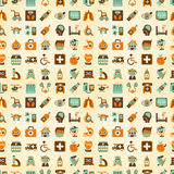 Naadloos retro Medisch patroon Stock Foto's