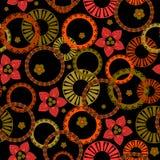 Naadloos retro patroon stock illustratie