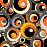 Naadloos retro patroon. stock illustratie
